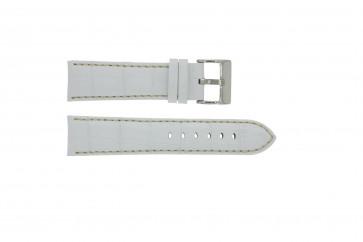 Horlogeband Universeel 378.22 Leder Wit 22mm