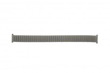 Horlogeband 382861 Fixoflex Rowi Titanium Zilver 16mm