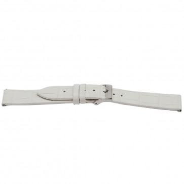 Horlogeband Universeel H501 Leder Wit 22mm