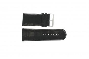 Echt lederen band croco zwart 28mm WP-61324