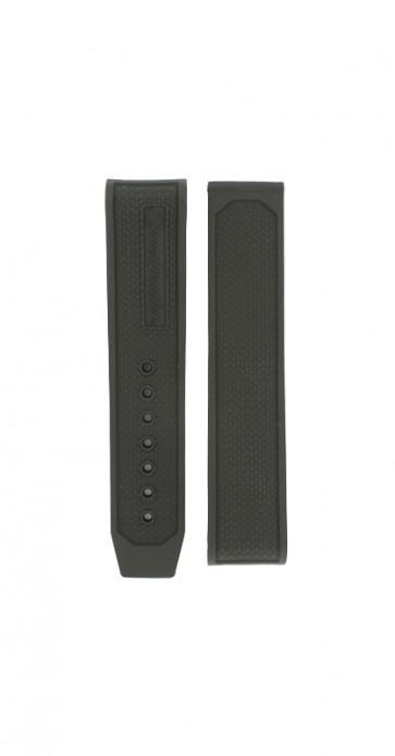 Horlogeband Omega 32632405001001 Rubber Zwart 19mm