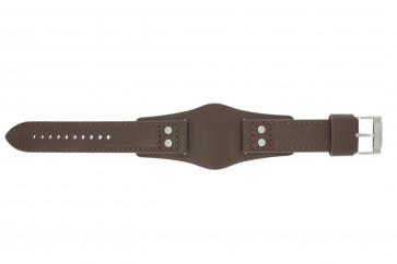 Horlogeband Fossil CH2565 Leder Bruin 22mm