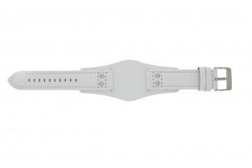 Fossil horlogeband CH2592 Leder Wit 22mm