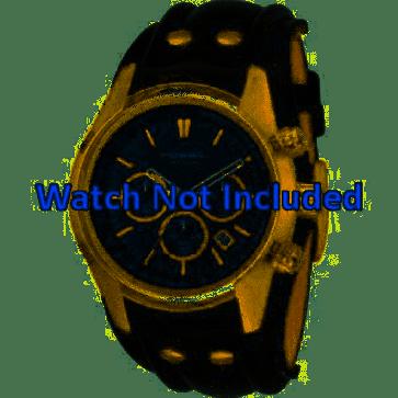 Horlogeband Fossil CH2615 Leder Zwart 22mm