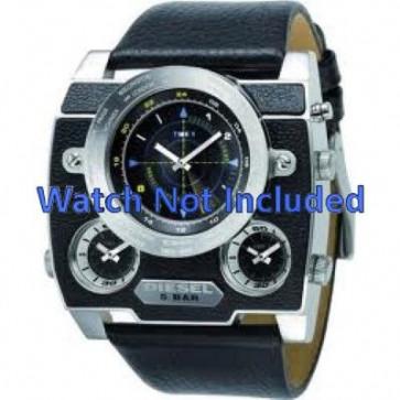 Horlogeband Diesel DZ1243 Leder Zwart 37mm