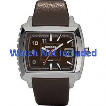 Diesel horlogeband DZ1364 Leder Donkerbruin 25mm