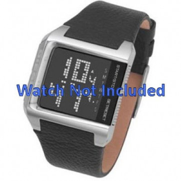 Horlogeband Diesel DZ7094 Leder Zwart 24mm