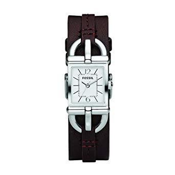 Horlogeband Fossil ES2637 Onderliggend Leder Bruin 7mm