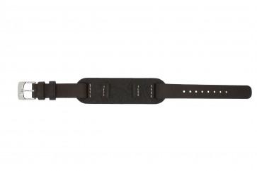 Horlogeband Fossil JR1158 Onderliggend Leder Bruin 14mm
