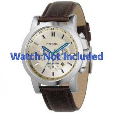 Horlogeband Fossil FS4248 Leder Bruin 22mm