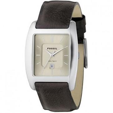 Horlogeband Fossil FS3041 Leder Bruin 22mm