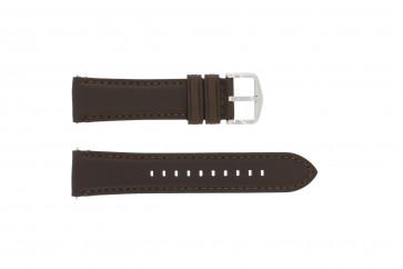 Horlogeband Fossil FS4735 / FS4813 Leder Bruin 22mm