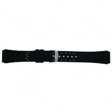 Horlogeband Condor SL100 Silicoon Zwart 22mm