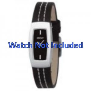 Horlogeband DKNY NY3296 Leder Zwart 15mm