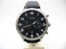 Horlogeband Hugo Boss HB.199.114.2570 Leder/Kunststof Zwart 22mm