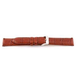 Echt lederen horloge band Cognac bruin 16mm E335