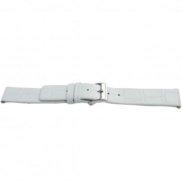 Horlogeband Universeel H520 Leder Wit 22mm