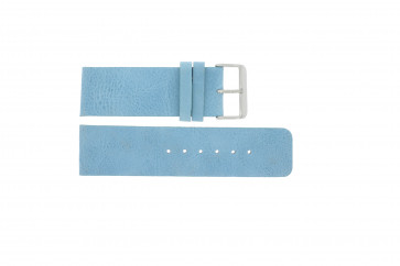 Horlogeband Universeel J625 Leder Blauw 26mm