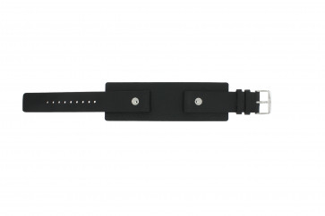 Horlogeband Fossil JR8122 Leder Zwart 20mm