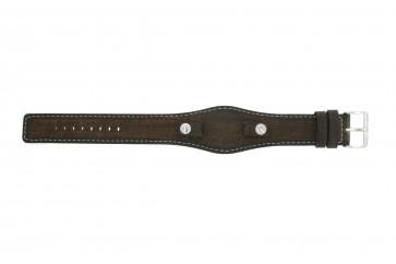 Horlogeband Fossil JR8130 Leder Bruin 10mm