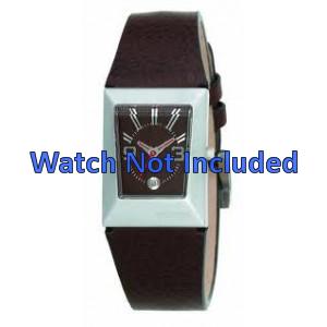 Horlogeband Fossil JR9407 Leder Bruin 20mm
