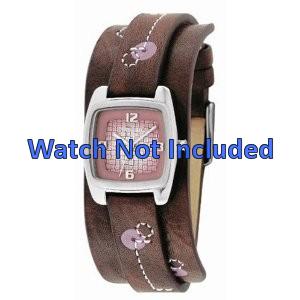 Fossil horlogeband JR-9512 Leder Bruin 12mm