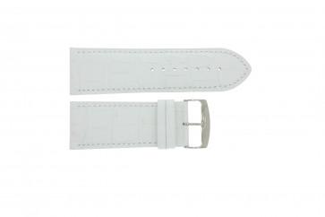 Horlogeband Universeel 305.09 Leder Wit 30mm