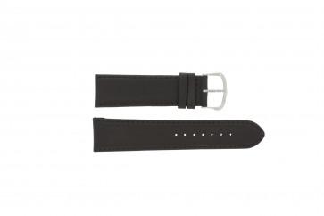 Horlogeband Universeel E.5316 Leder Donkerbruin 20mm