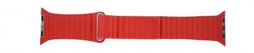 Apple (vervangend) horlogeband LS-AB-110 Leder Rood 42mm