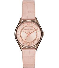 Horlogeband Michael Kors MK2722 Leder Roze 16mm