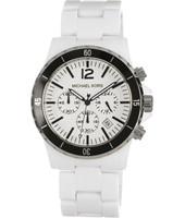 Horlogeband Michael Kors MK8127 Kunststof/Plastic Wit 23mm