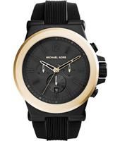 Horlogeband Michael Kors MK8383 Silicoon Zwart 28mm