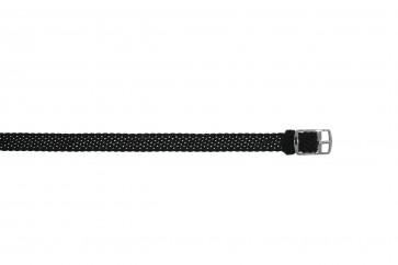 Perlon band 10mm zwart