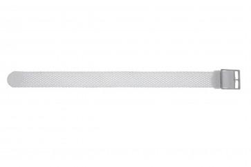 Horlogeband Universeel PRLN.18.W Onderliggend Nylon/perlon Wit 18mm
