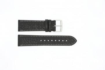 Horlogeband Universeel 307L.01 XL Leder Zwart 24mm
