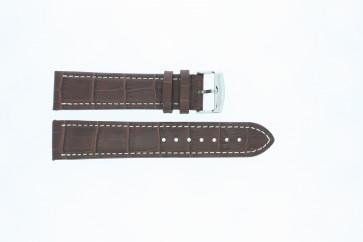 Buffalo kalf middel bruin met wit stiksel 22mm 308