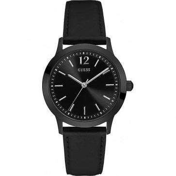 Horlogeband Guess W0922G5 Leder Zwart
