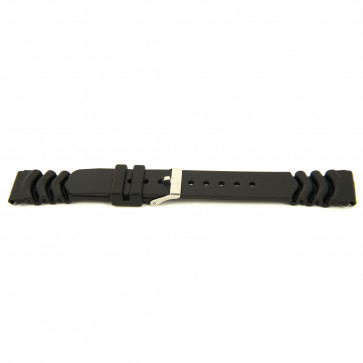 Horlogeband Rubber 20mm Zwart XG11