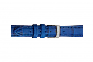 Morellato horlogeband Bolle X2269480065CR24 / PMX065BOLLE24 Croco leder Blauw 24mm + standaard stiksel