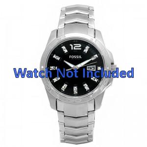 Fossil horlogeband AM4089 Staal Zilver 22mm