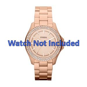Fossil horlogeband AM4454 Staal Goud (Rosé) 18mm