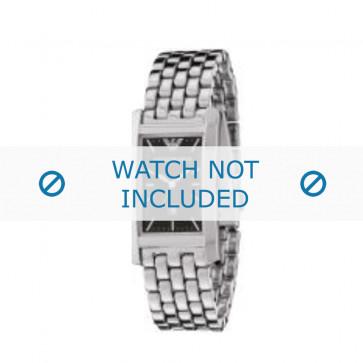 Armani horlogeband AR-0108 Staal Zilver 19mm