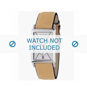 Horlogeband Armani AR0128 Leder Cognac 20mm