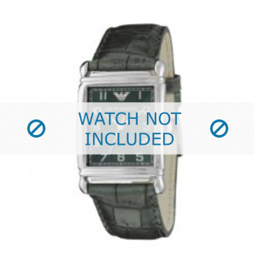 Armani horlogeband AR-0215 Croco leder Groen 22mm