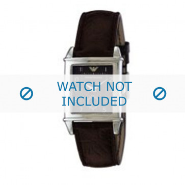Armani horlogeband AR-0227 Leder Bruin 21mm
