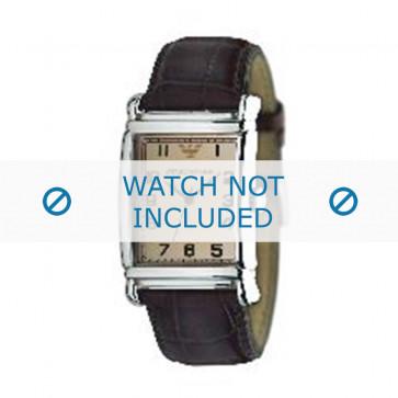 Horlogeband Armani AR0234 / AR0402 Leder Bruin 26mm