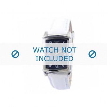 Armani horlogeband AR-0261 Leder Wit 20mm