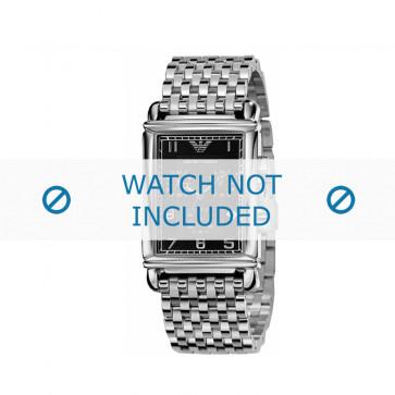 Armani horlogeband AR-0299 Staal Zilver 22mm