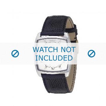 Armani horlogeband AR-0309 Leder Zwart 22mm