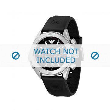 Armani horlogeband AR0548 / AR-0548 / AR 0548 Vanille Staal Zwart 23mm